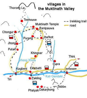 map muktinath villages klein